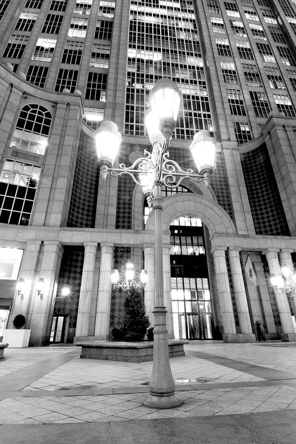 Boston Photograph - Night Lights by Greg Fortier