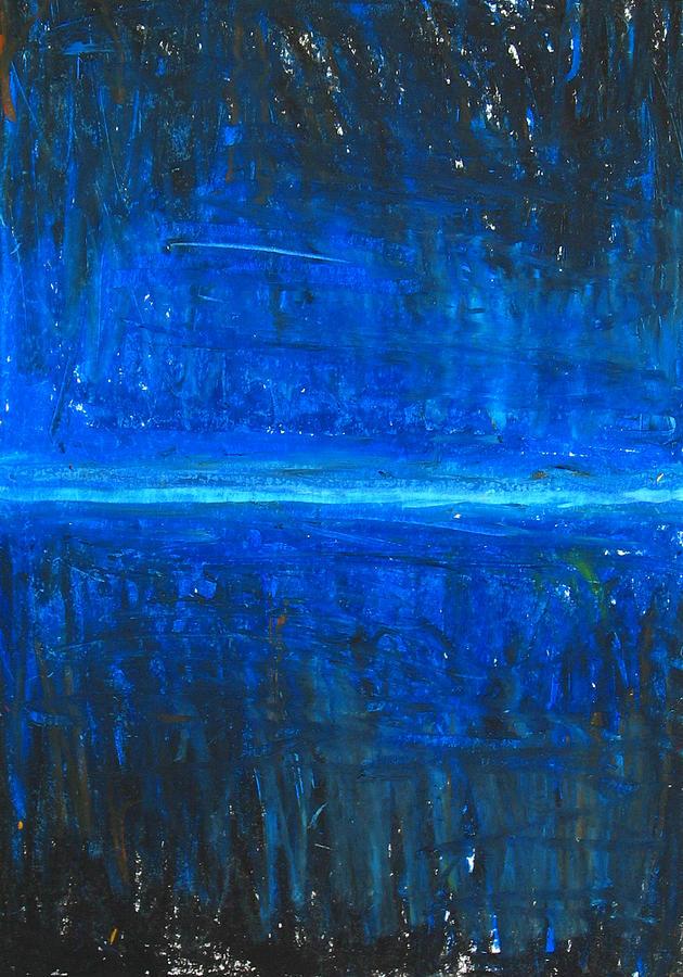 Abstract Cityscape Painting - Night Line by Kazuya Akimoto
