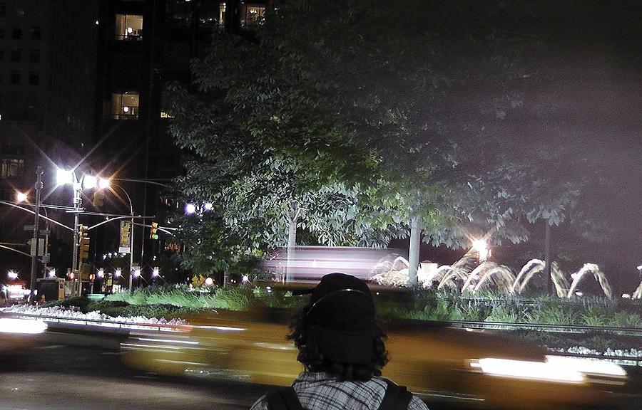 Nyc Landmarks Photograph - Night Look At Columbus Circle by Cathy Brown