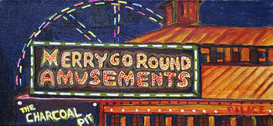 Asbury Park Painting - Night Merrys by Patricia Arroyo