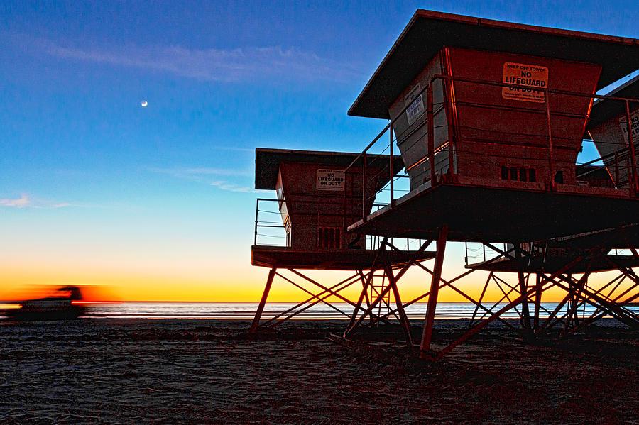 Beach Photograph - Night Patrol by Donna Pagakis
