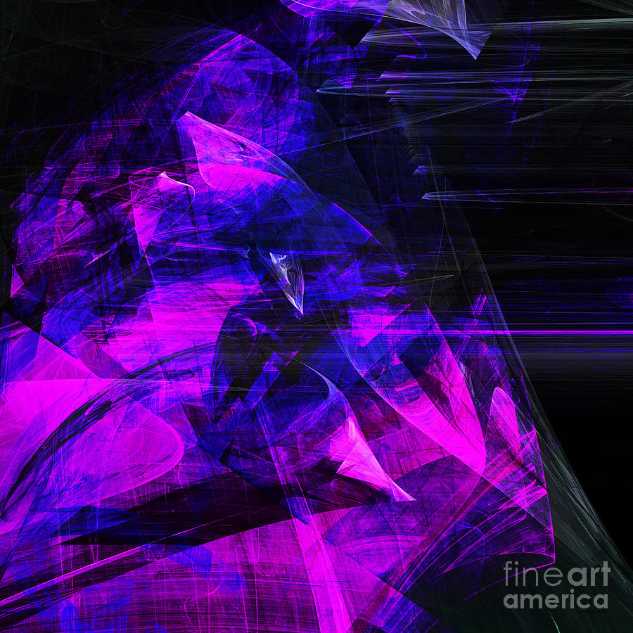 Fractal Digital Art - Night Rider . Square . A120423.936.693 by Wingsdomain Art and Photography