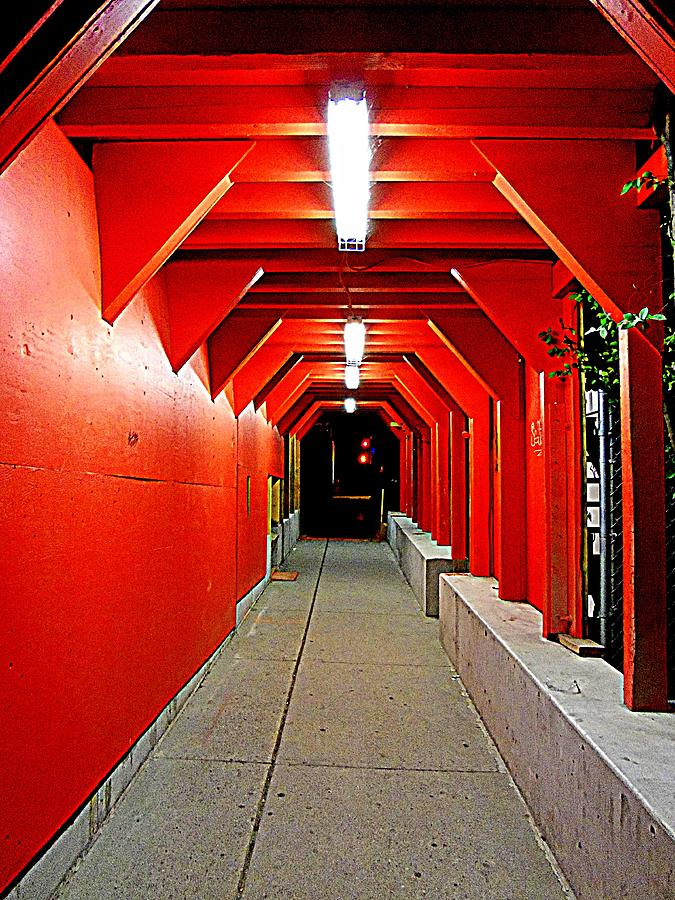 Tunnel Photograph - Night Tunnel by Randall Weidner