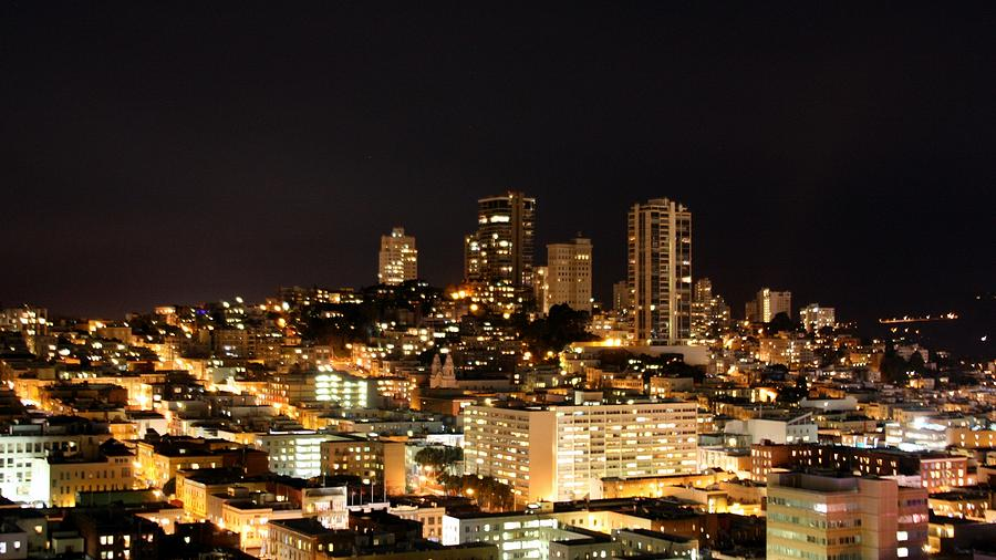 Horizontal Photograph - Night View Of San Francisco by Luiz Felipe Castro