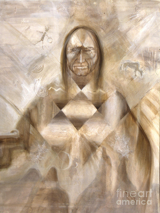 Guardian Mixed Media - Star Priest by Charles B Mitchell