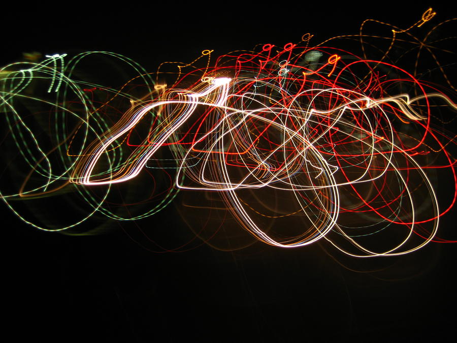 Neon Photograph - Nightcycle by Darnillious Designs