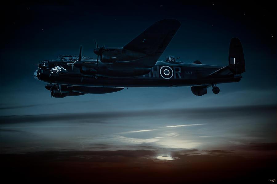 Lancaster Photograph - Nightflight by Chris Lord