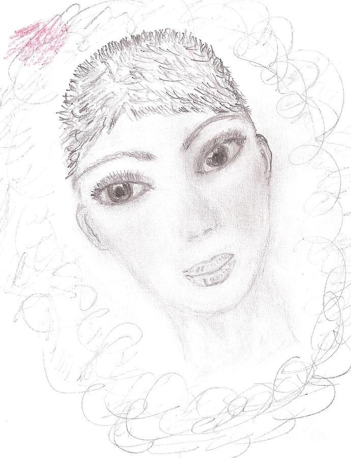 Pensil Drawing - Nika by Kira Nech