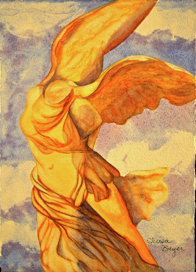 Statue Painting - Nike Goddess Of Victory by Teresa Beyer