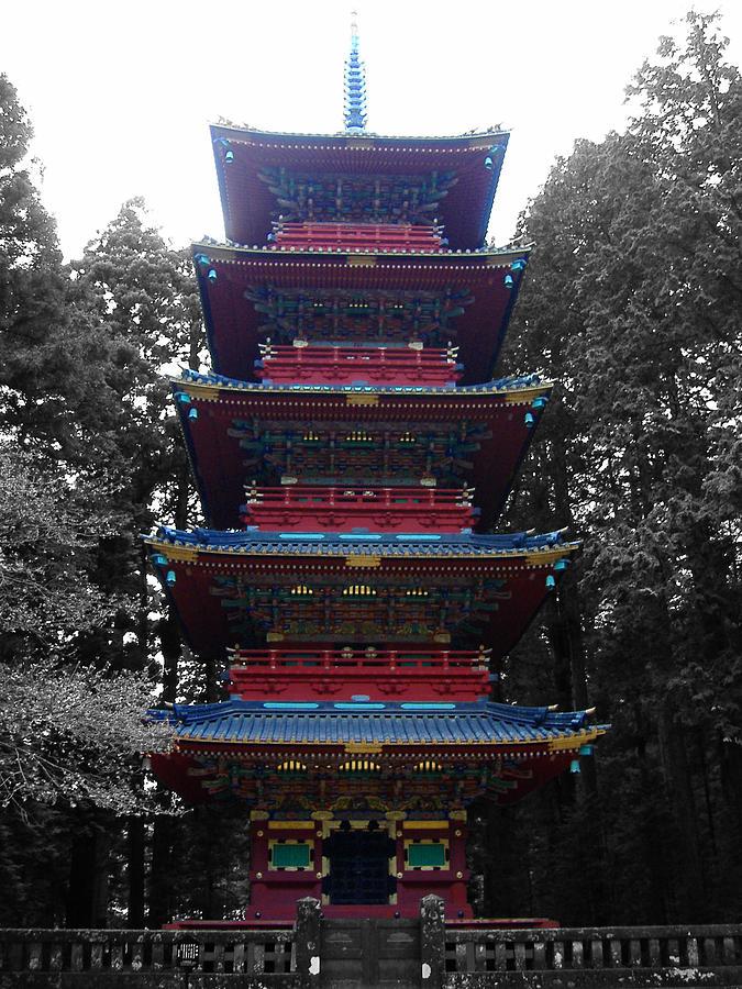 Nikko Photograph - Nikko Pagoda by Naxart Studio
