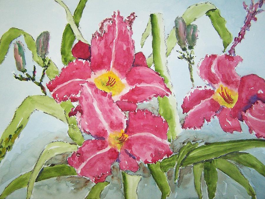 Lilly Painting - Nine Blooms by James Cox
