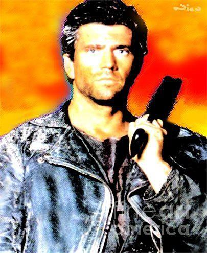 Mel Gibson Painting - Nixo Gibson by Nicholas Nixo