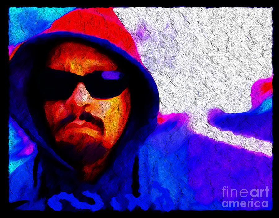 Ice T Painting - Nixo.ice T by Nicholas Nixo