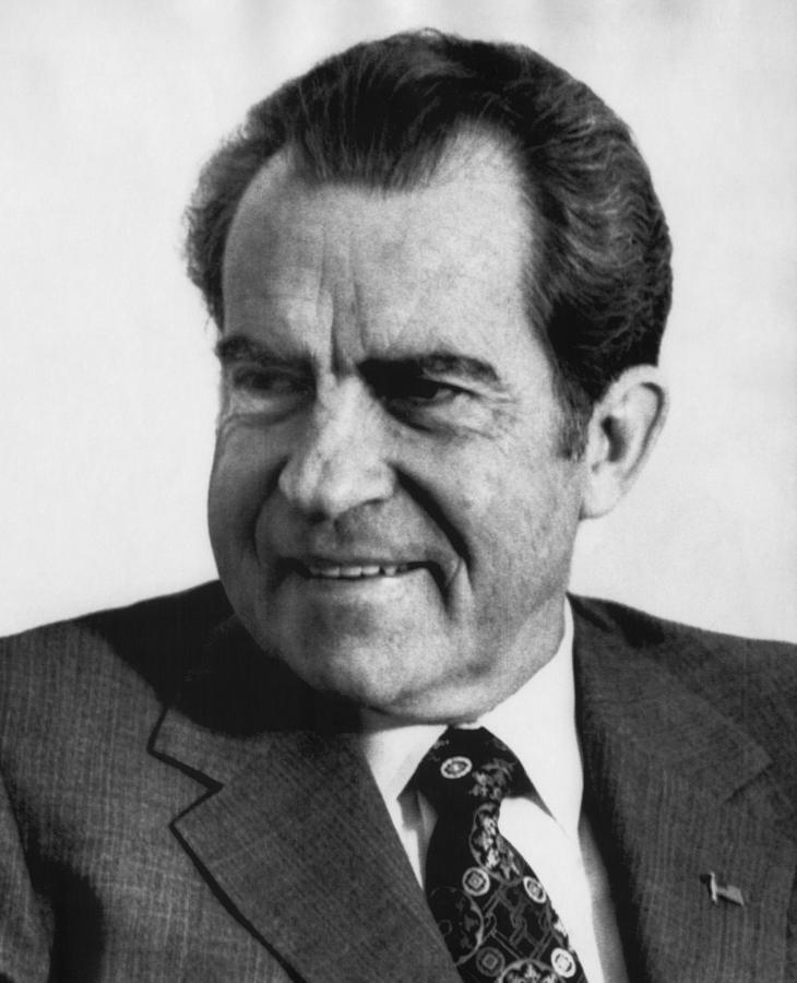 1970s Photograph - Nixon Presidency. Us President Nixon by Everett