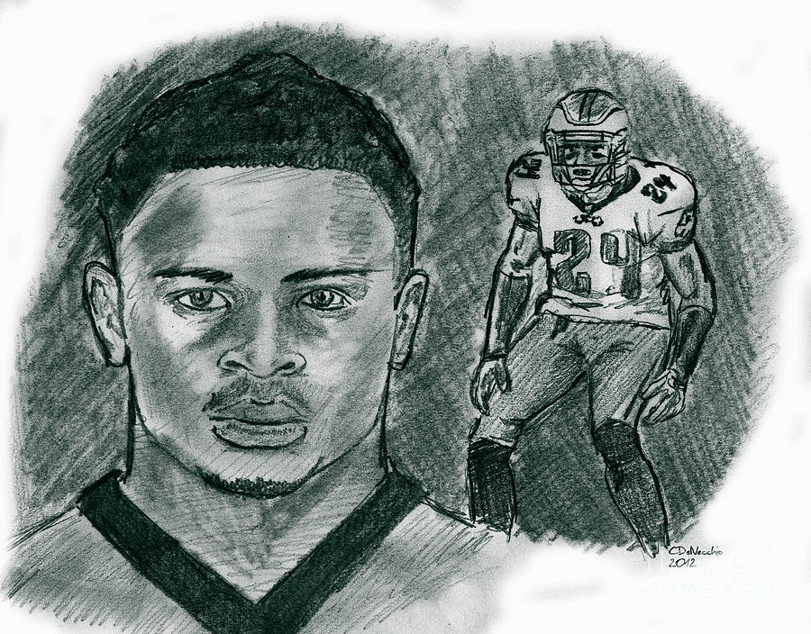 Nnamdi Asomugha Drawing by Chris  DelVecchio