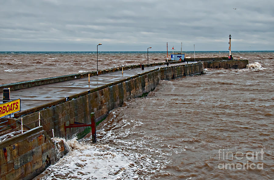 High Tide Photograph - No Boats Today by David  Hollingworth
