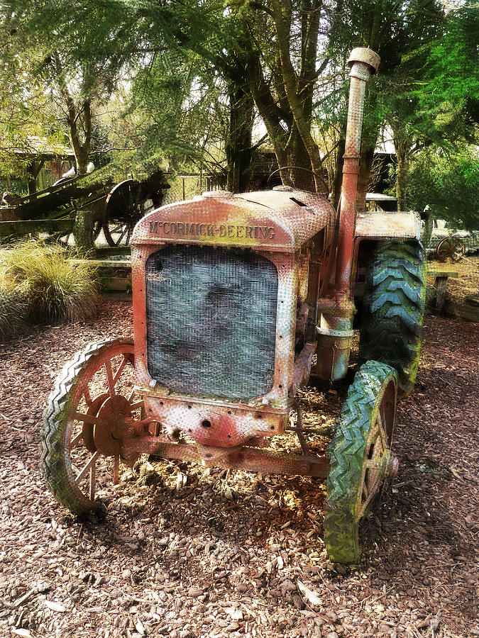 Tractor Photograph - No Need To Rush by Steve Taylor