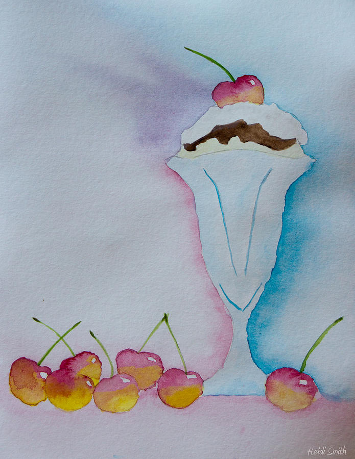 Sundae Painting - No Ordinary Cherry by Heidi Smith