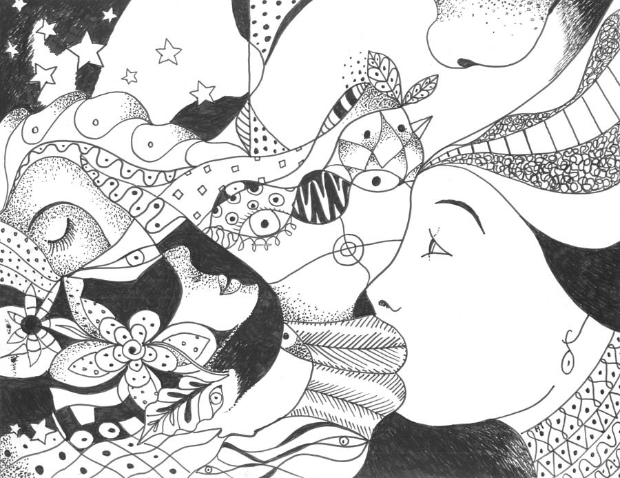 Surreal Drawing - No Ordinary Dream by Helena Tiainen