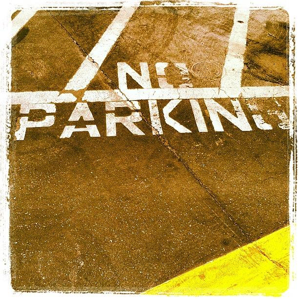 No Parking Photograph - No Parking by Gwyn Newcombe