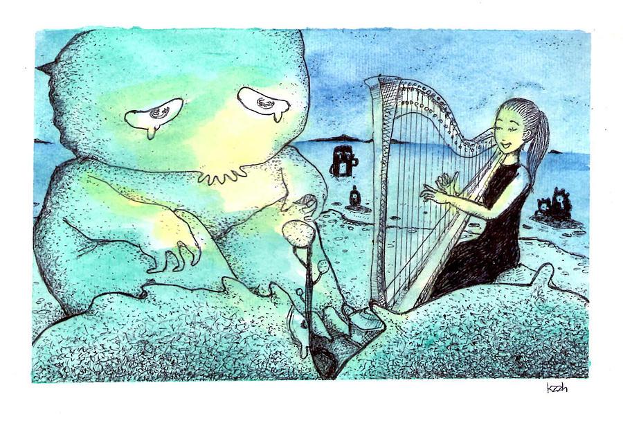 Monster Painting - No Place Like Home by Katchakul Kaewkate