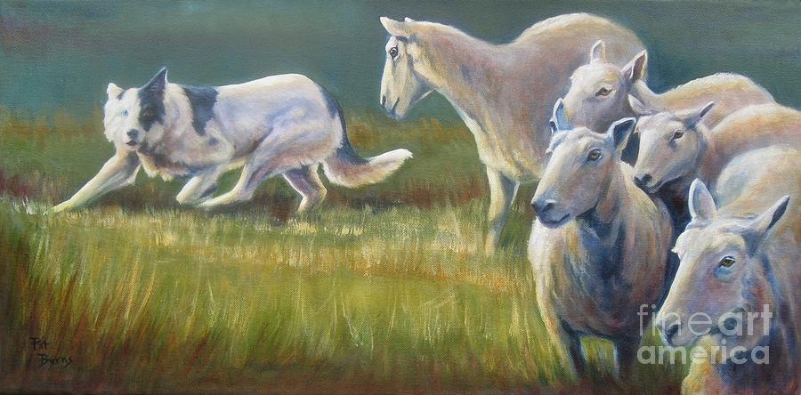 Animal Painting - No Right Turn by Pat Burns