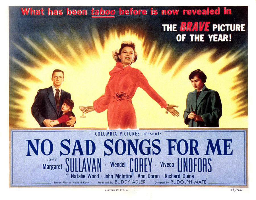 1950 Movies Photograph - No Sad Songs For Me, Wendell Corey by Everett