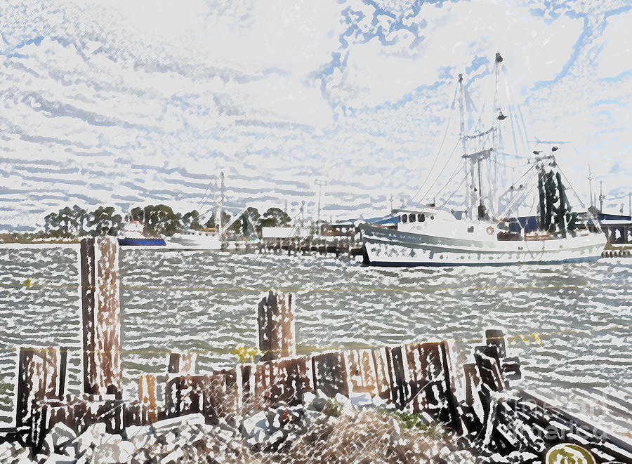 Boats Photograph - No Shrimpin Today by David Bearden