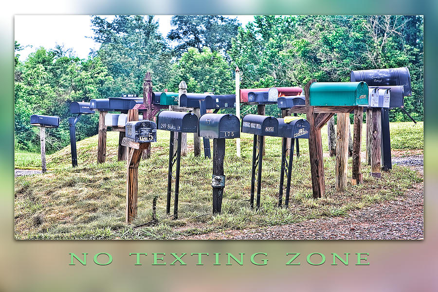 Texting Photograph - No Texting Zone by Stephen Warren