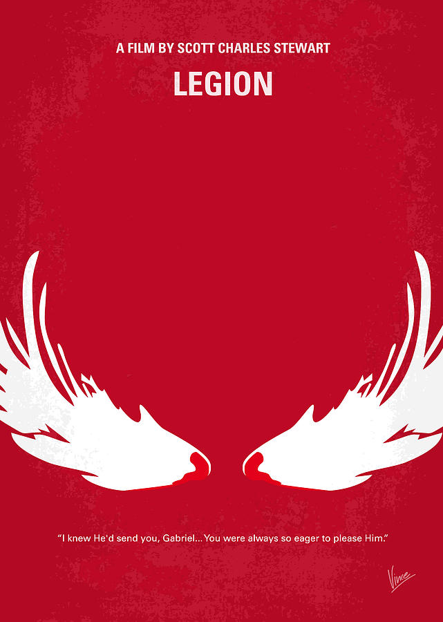 Legion Digital Art - No050 My Legion Minimal Movie Poster by Chungkong Art
