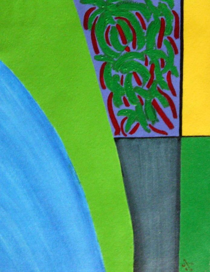 Abstract Painting - No.352 Abstract Landscape Study by Vijayan Kannampilly