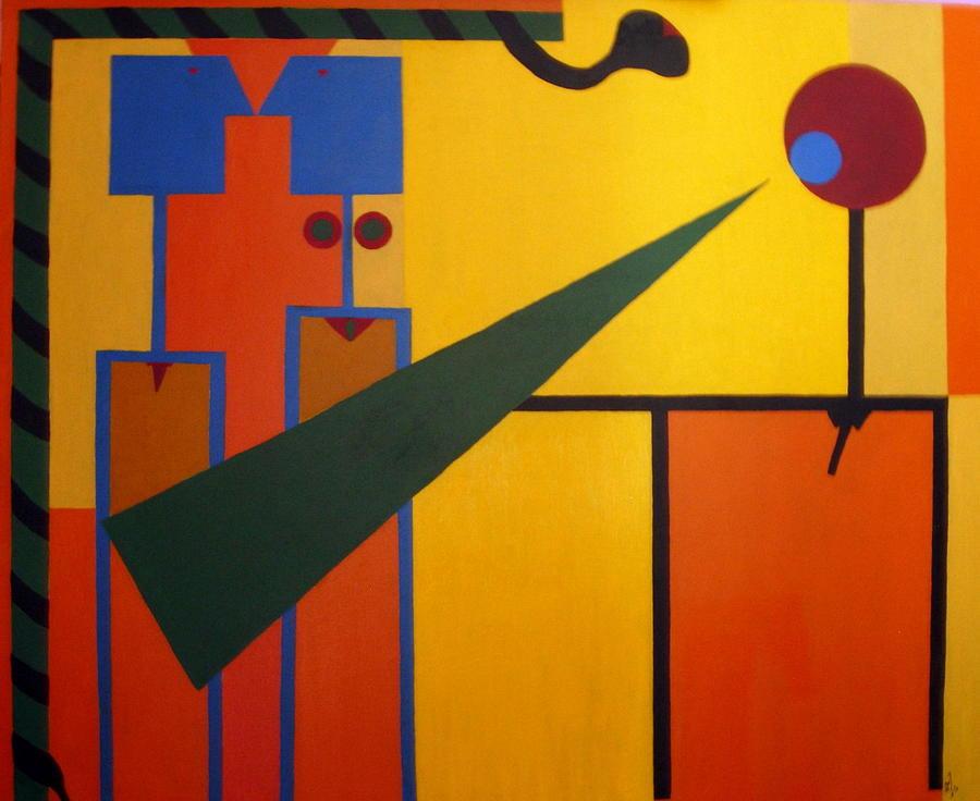 Abstract Painting - No.43 by Vijayan Kannampilly