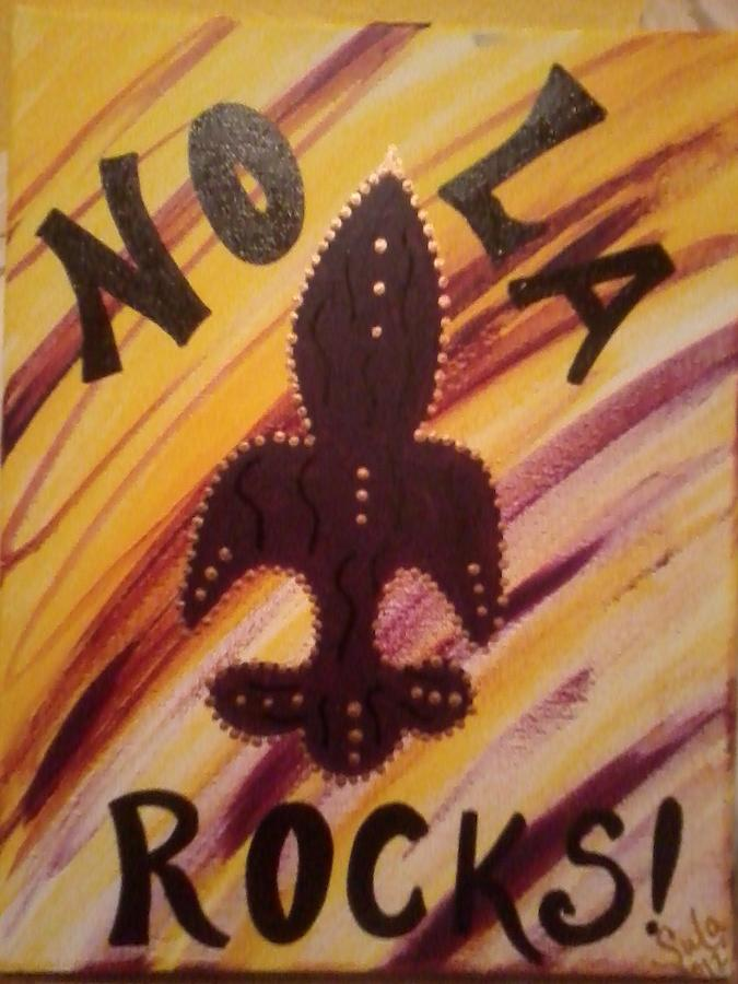 Nola Rocks Painting by Sula janet Evans