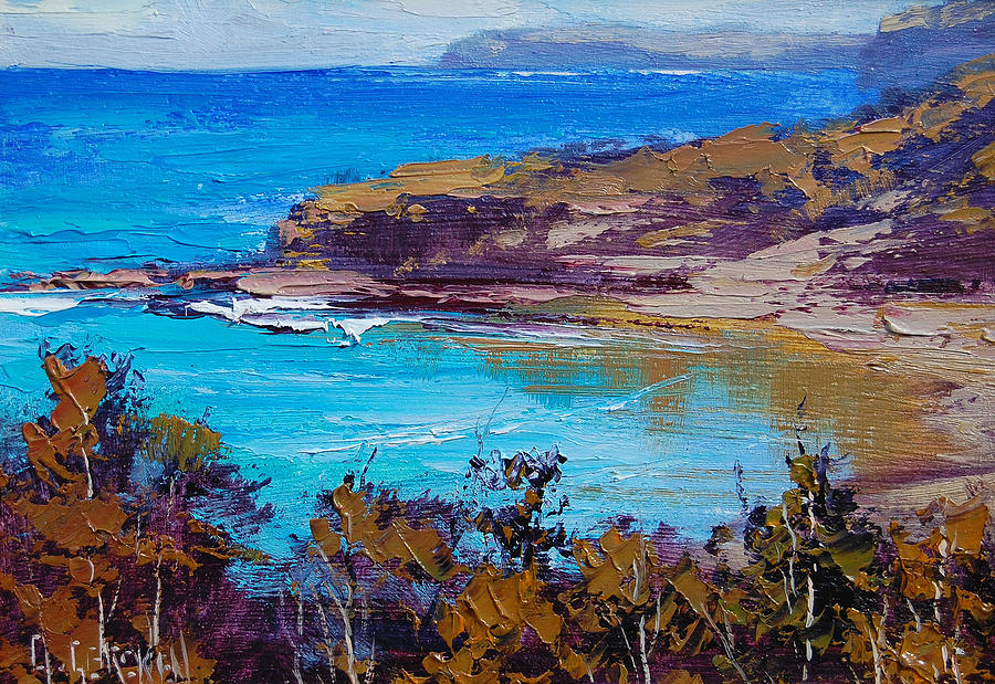 Seascape Painting - Norah Head Central Coast Nsw by Graham Gercken