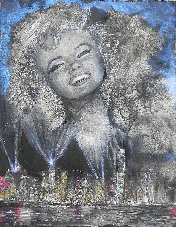 Norma Jean in Lights by Anne-D Mejaki - Art About You productions