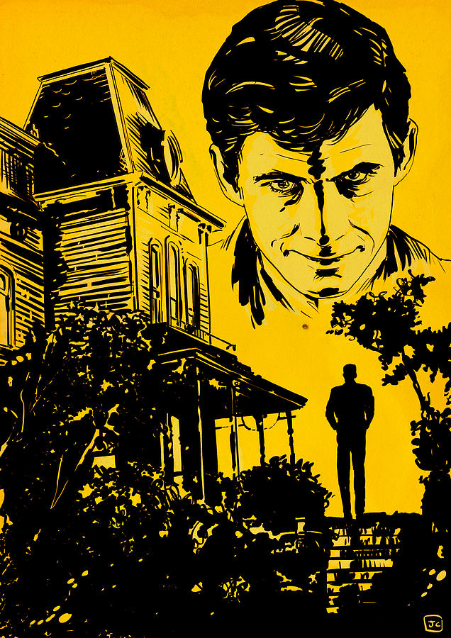 Norman Bates Psycho Drawing by Giuseppe Cristiano