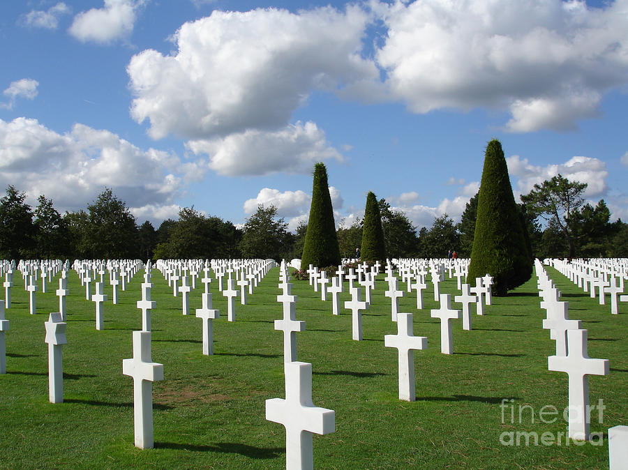 Normandy Photograph - Normandy American Cemetery by Carol Groenen