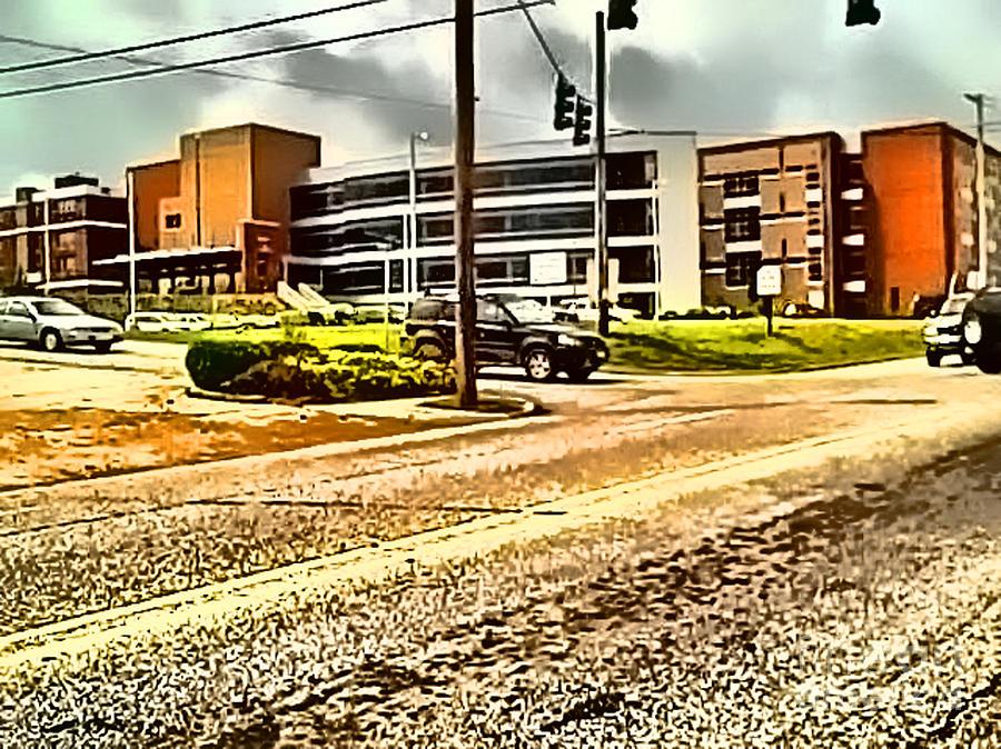 Harrison Arkansas Digital Art - North Arkansas Regional Medical Center by Kathy Tarochione