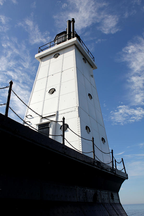 Lighthouse Photograph - North Breakwater by Sheryl Burns