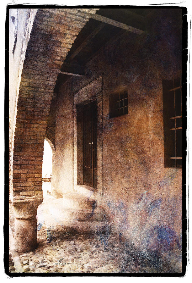 Framed Pyrography - North Italy 2 by Mauro Celotti