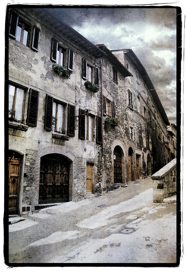 Framed Pyrography - North Italy  by Mauro Celotti