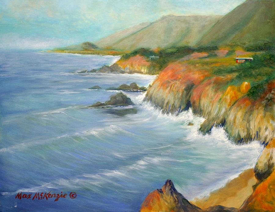 Ocean Painting - North Of Big Sur by Max Mckenzie