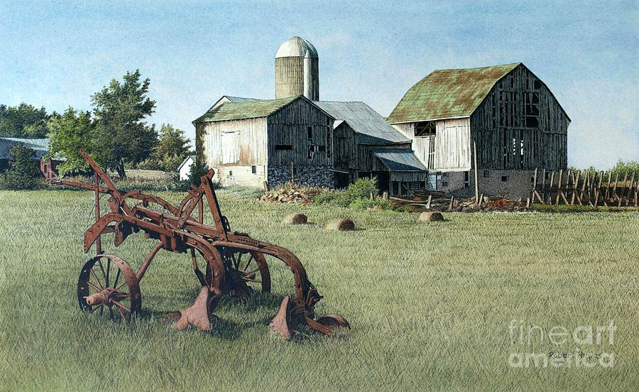 Barn Painting - North Of Uxbridge by Robert Hinves