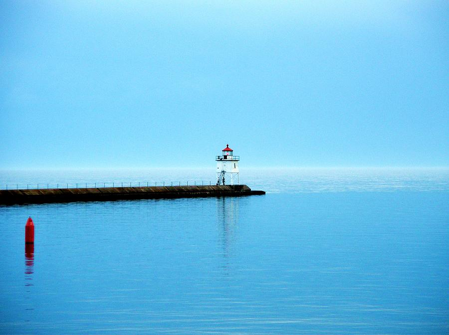 Lake Superior Photograph - North Shore Lighthouse by Bridget Johnson