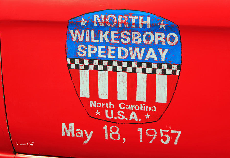 Red Photograph - North Wilkesboro Speedway by Suzanne Gaff
