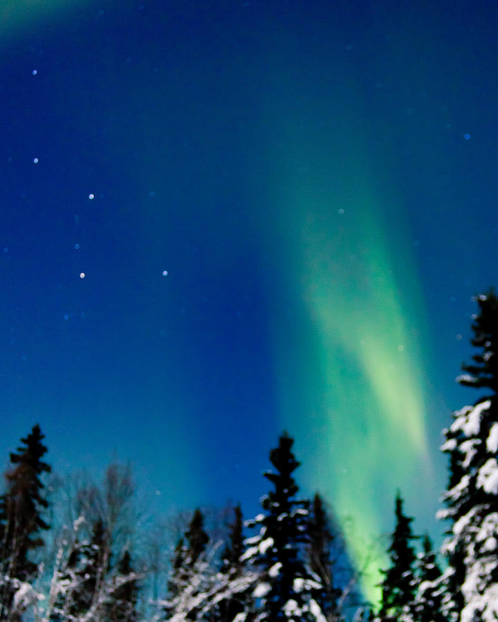 Alaska Photograph - Northern Light Spiral To Cassiopeia by John Aldabe