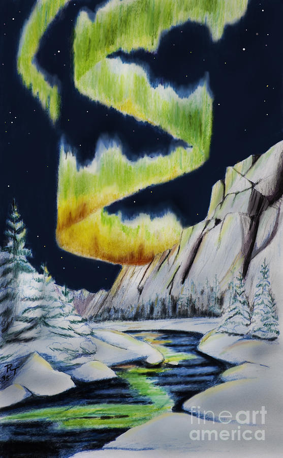 Northern Lights Drawing By Robert Thornton