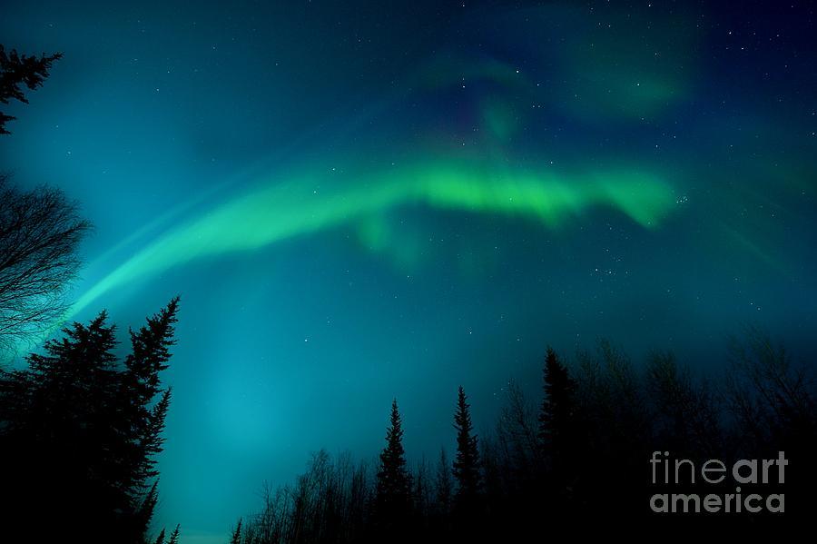 Lights Photograph - Northern Magic by Priska Wettstein