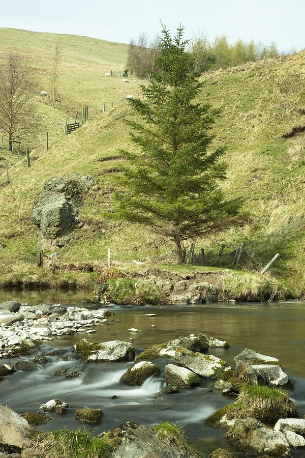 England Photograph - Northumberland, England A River Flowing by John Short