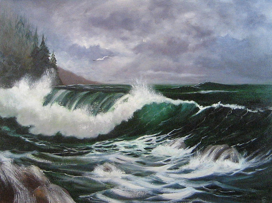 Seascape Painting - Northwest Currents by Colleen Lambert